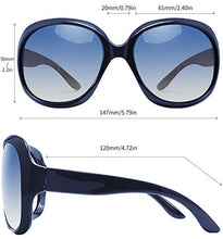 Load image into Gallery viewer, EPIC X AVA Oversized Polarized Sunglasses for Women, Ladies Fashion Thick Big Frame Sun Glasses Shades for Women (Gradient Ocean Blue)