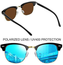 Load image into Gallery viewer, Epic X Carter Semi Rimless Polarized Sunglasses Women Men Retro Brand Sun Glasses (Blue Mirrored Lens)