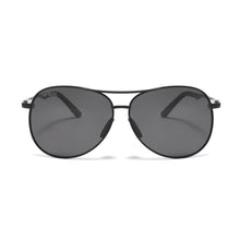 Load image into Gallery viewer, EPIC X AVIATOR Premium Military Style Classic Aviator Sunglasses, Polarized, 100% UV Protection (Large Frame - Black Frame/Black Lens)
