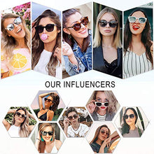 Load image into Gallery viewer, EPIC X BELLA Classic Square Polarized Sunglasses Unisex UV400 Mirrored Glasses SJ2050 with Tortoise Frame/Gradient Brown Lens
