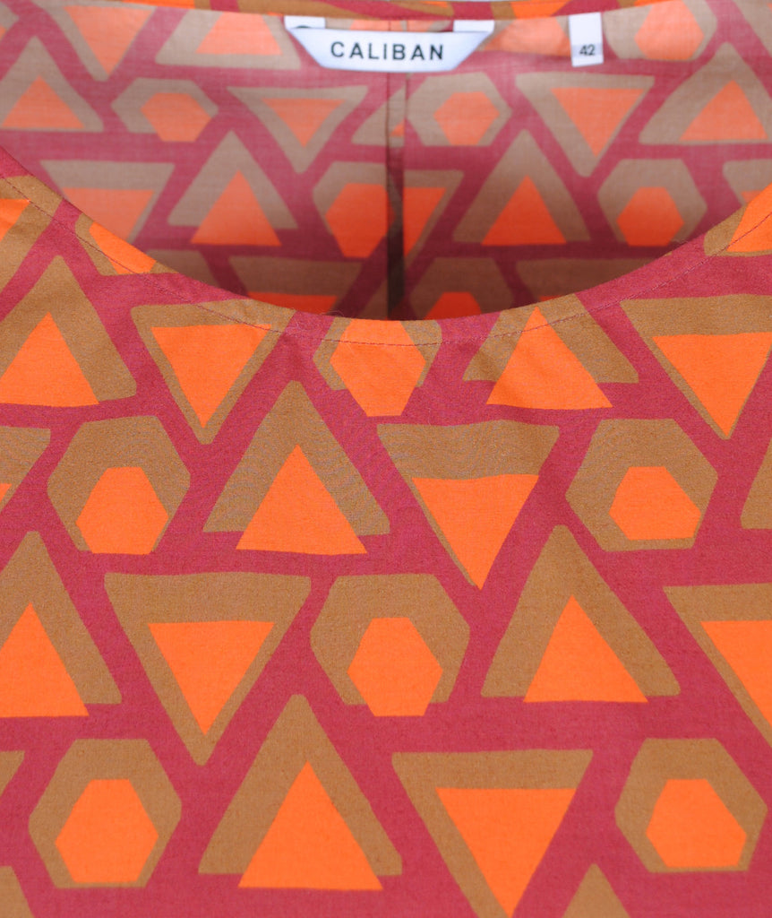 Kleid Grafikprint | orange