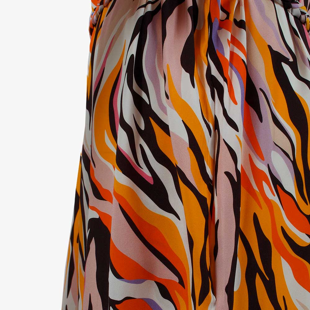 1/2 Kleid Animalprint, Detail | multicolor