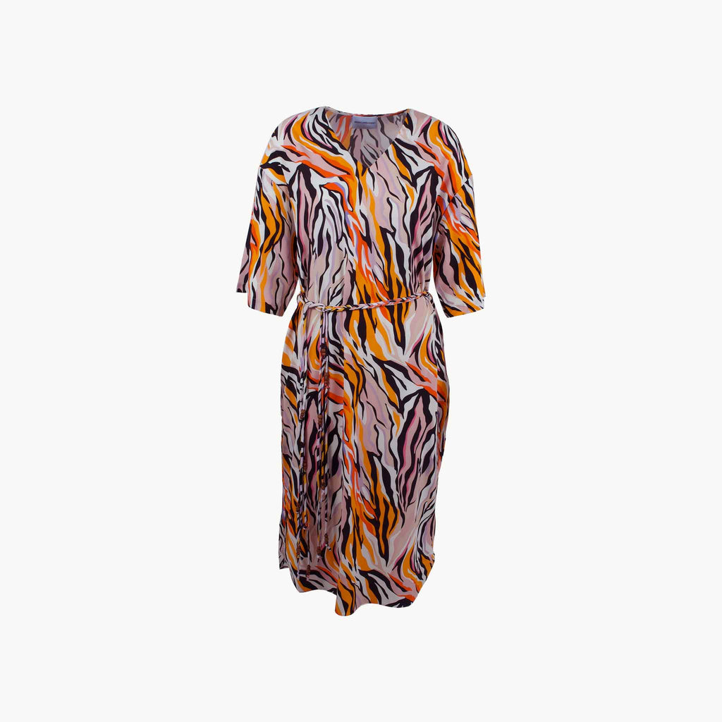 1/2 Kleid Animalprint, Vorderansicht | multicolor