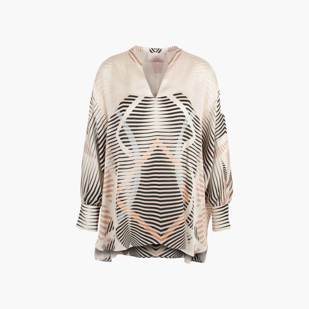 IVI Collection Bluse Illusion | sand