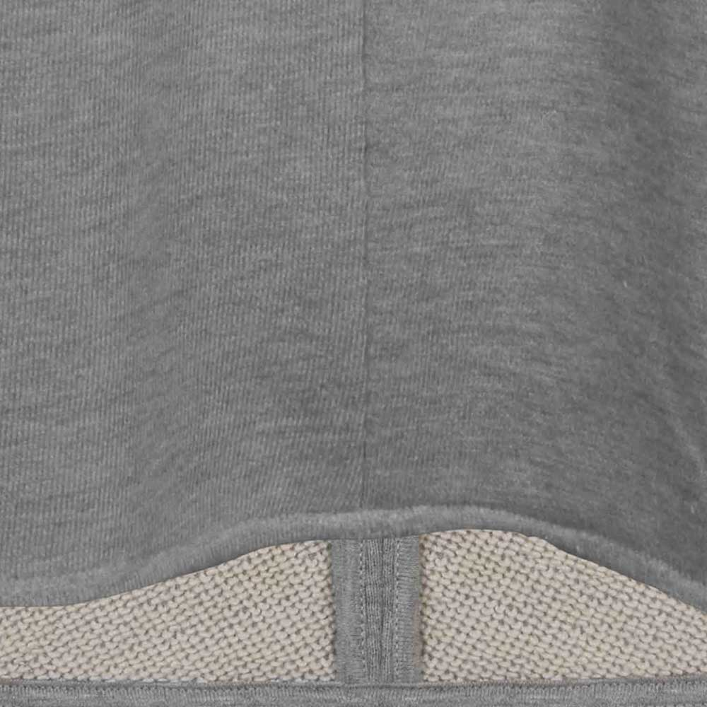 V-Neck Sweater, Saum | graumelange