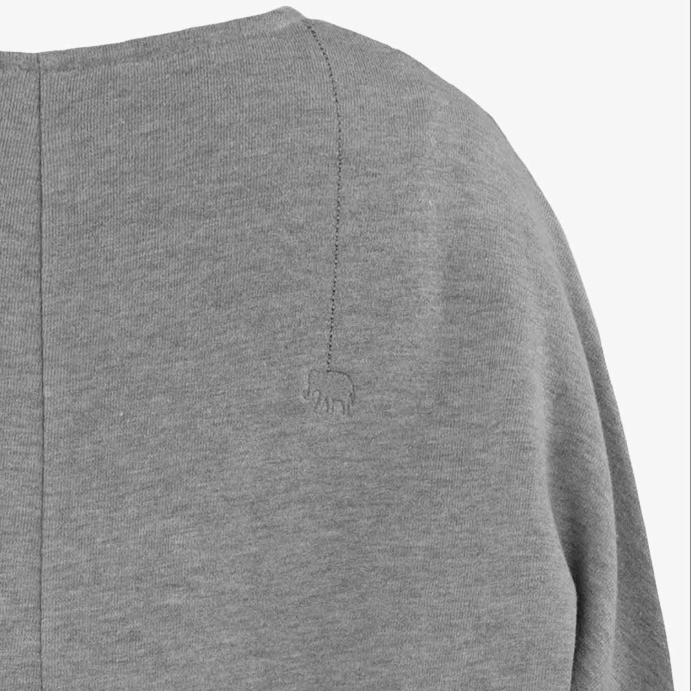 V-Neck Sweater, Schulter | graumelange