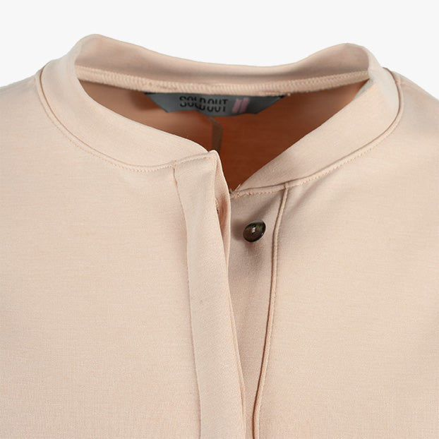Bluse oversized, Detail Kragen | rose