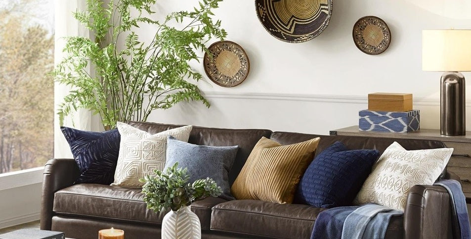 Designer Decorative Pillows For Chic Living Rooms and ...