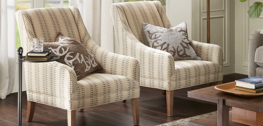shop chic living room accent chairs and upholstered benches sky iris