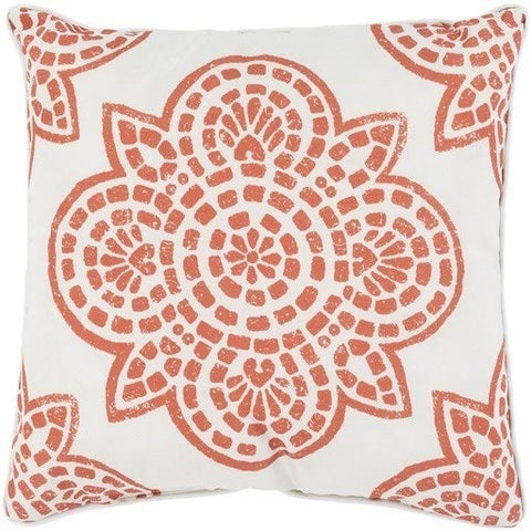 Arabesque Orange Outdoor Pillow