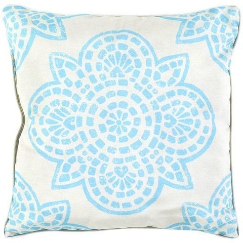 Arabesque Turquoise Outdoor Pillow