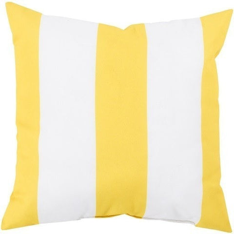 Beach Stripe Yellow Outdoor Pillow