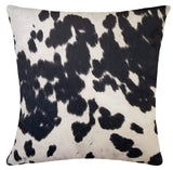 Black Faux Cowhide Pillow