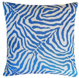 designer-bright-blue-animal-print-pillow
