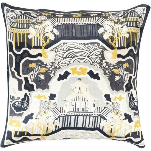 gray-oriental-silk-throw-pillows