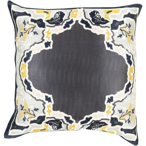 charcoal-gold-Asian-silk-pillow