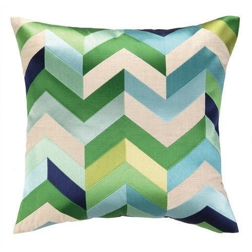 Arrow Blue Green Throw Pillow