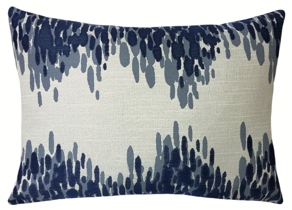 Picture of: Navy Blue Splatter Throw Pillow Contemporary Home Accents Sky Iris