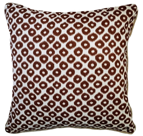 Bradford Mocha Brown Ikat Pillow