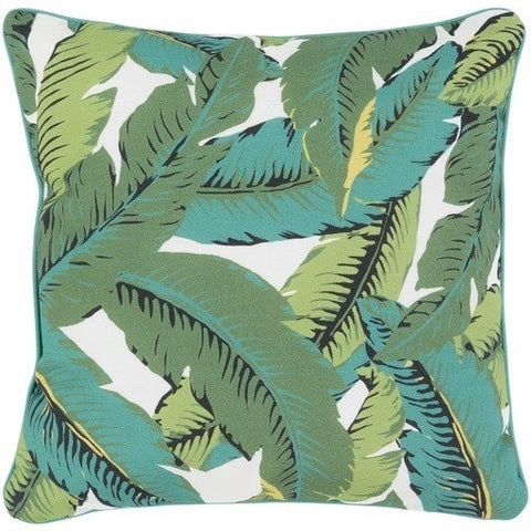 Banana Leaf Pattern Outdoor Tropical Pillows