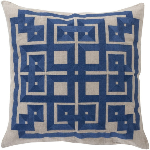 labyrinth-cobalt-blue-modern-geometric-pillow
