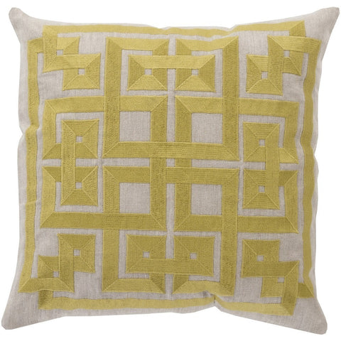 labyrinth-lime-gray-throw-pillow