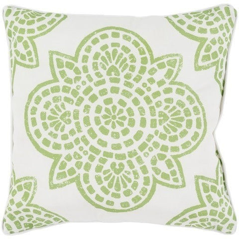 Arabesque Lime Green Outdoor Pillow