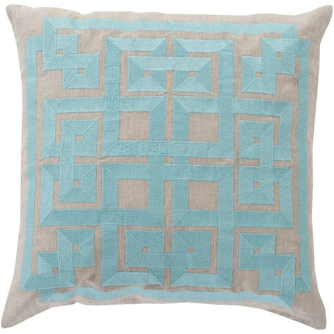 aqua-gray-geometric-throw-pillow