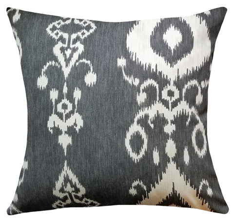 gray-ikat-pattern-decorative-pillows