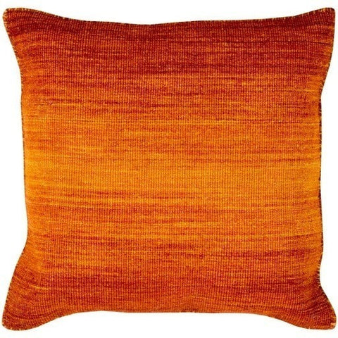 Orange Ombre Carpet Throw Pillow