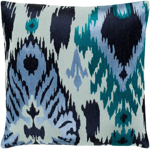 embroidered-blue-ikat-throw-pillows