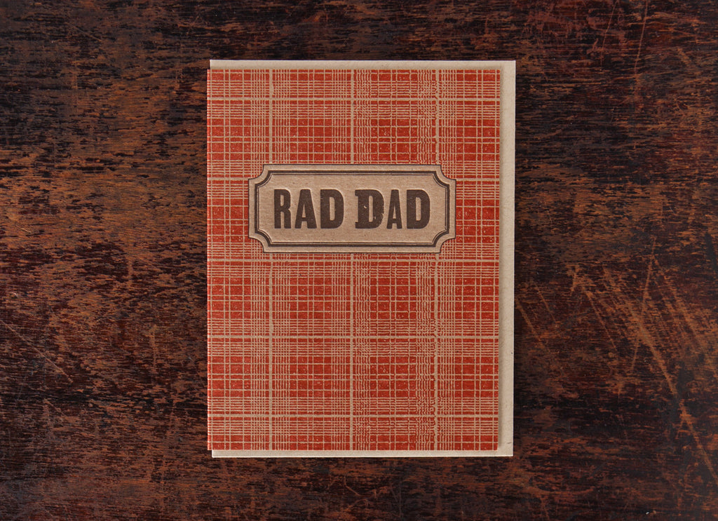 Classic Greetings: Plaid Rad Dad