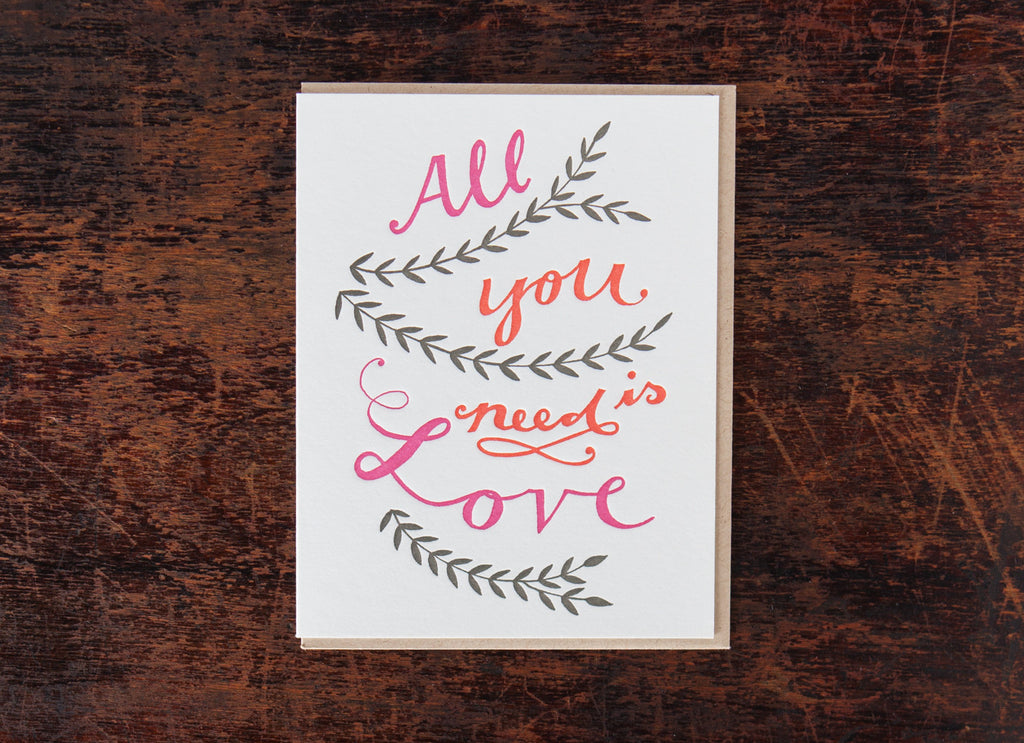 Calligraphy: All You Need Is Love