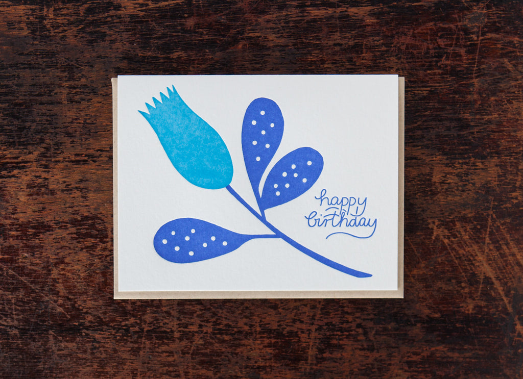 Calligraphy: Birthday Flower