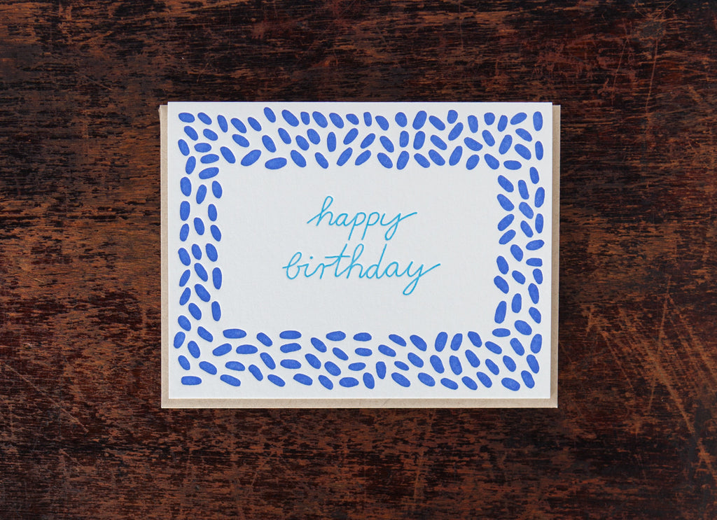 Calligraphy: Birthday Pebbles