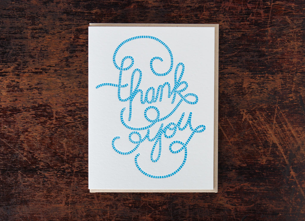 Calligraphy: Thank You Stripes
