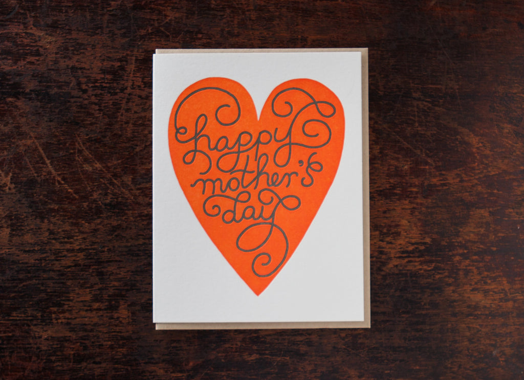 Calligraphy: Mother's Day Heart