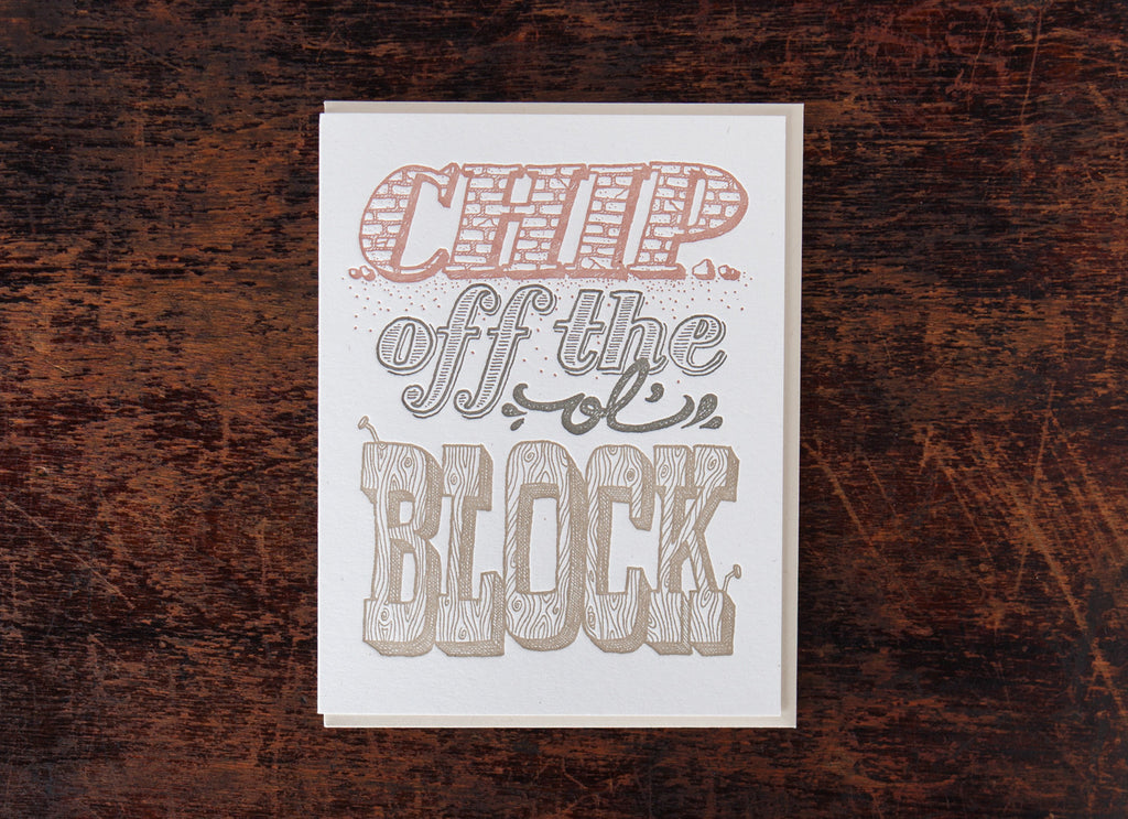 Old-Timey Greetings: Chip Off The Ol' Block