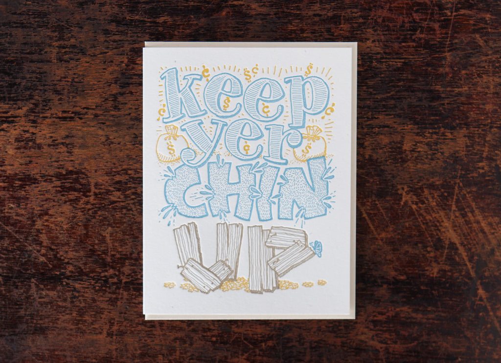 Old-Timey Greetings: Keep Yer Chin Up