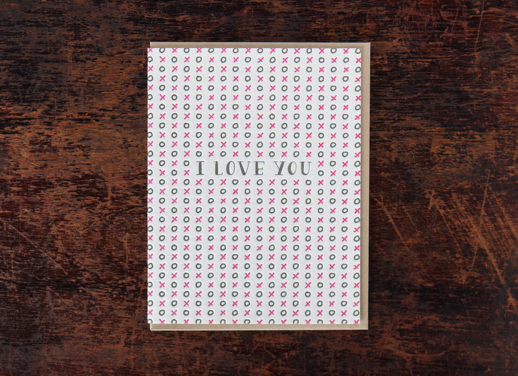 Pattern Greetings: I Love You