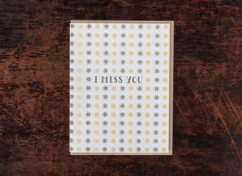 Pattern Greetings: I Miss You