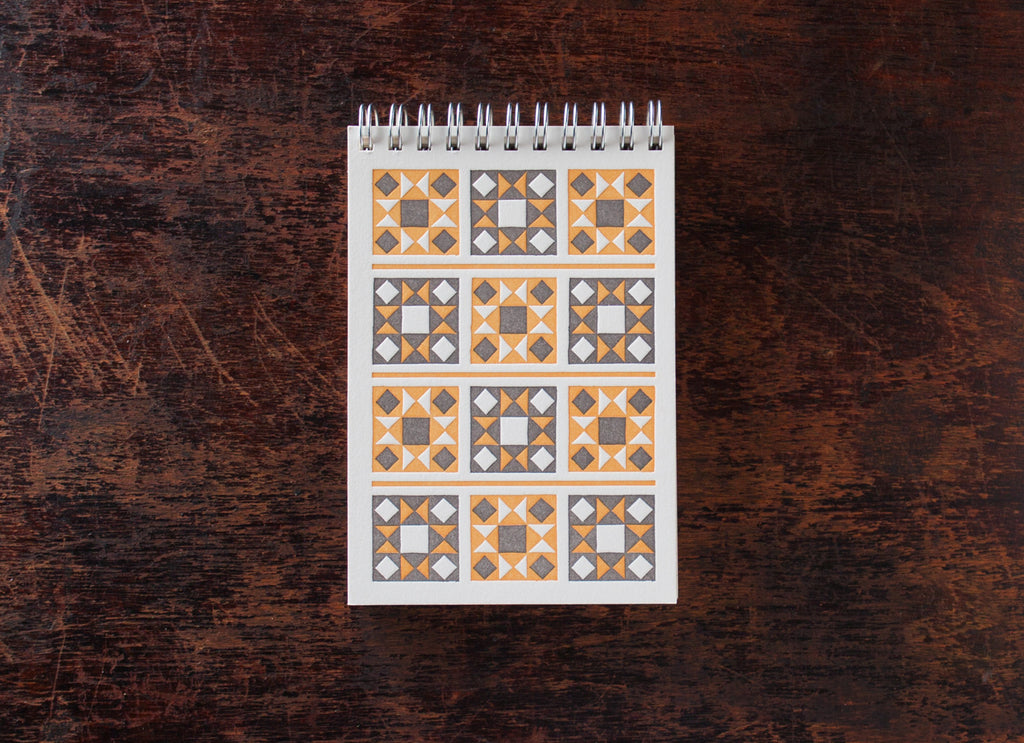Mini Note Book: Orange Quilt