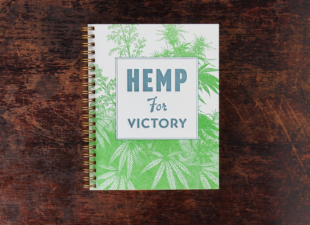 Note Book: Hemp For Victory