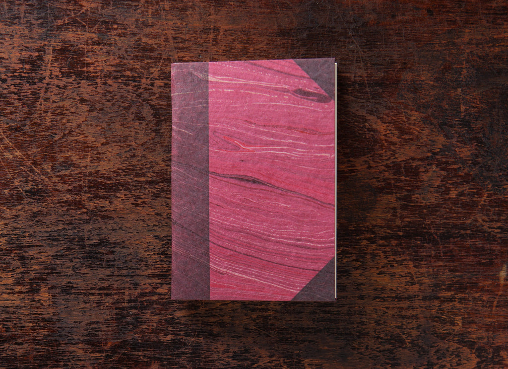 Pocket Book: Marbled Burgundy