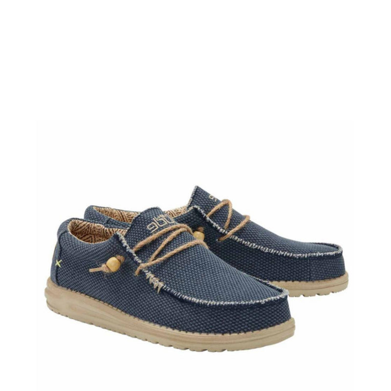 DUDE MOCASSINO WALLY BRAIDED 110622673 BLU NOTTE