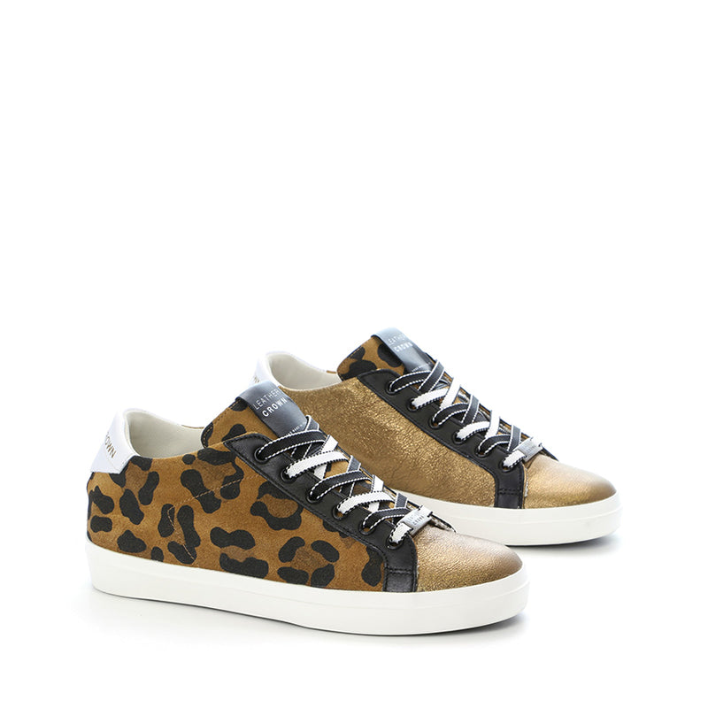 LEATHER CROWN SNEAKERS W136-410