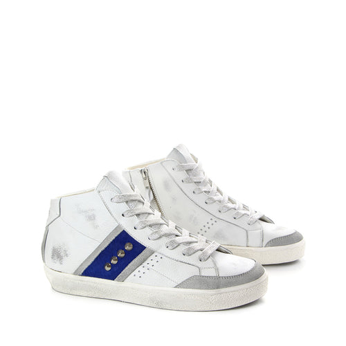 LEATHER CROWN SNEAKERS WLC177-007