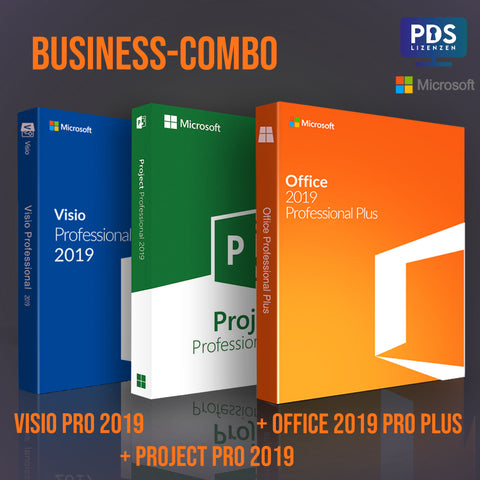 Office 2019 PP + Project Pro 2019 + Visio Pro 2019