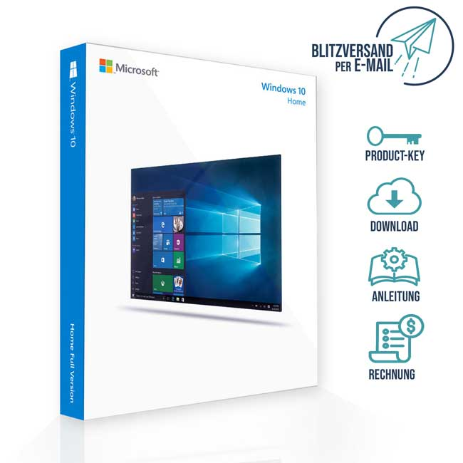 ▷ Windows 10 Home Vollversion | 32&64Bit | Blitzversand ✅
