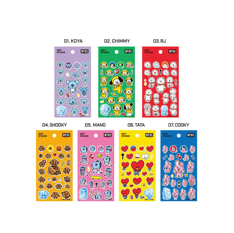 BT21 SOFT STICKER